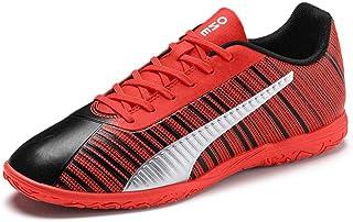 PUMA ONE 5.4 IT Men's Futsal Shoes, Black-NRGY RED