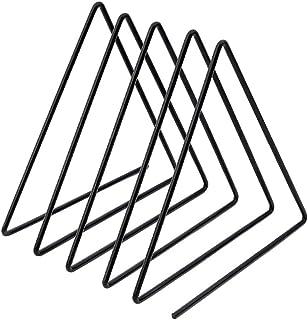 Juego de Memoria de Disco Rack, Oficina Cafetería Hotel Triangle LP Soporte de exhibición - Disco de Vinilo Mangas Boda (Color : Black, Size : 17 * 14 * 16.5cm)