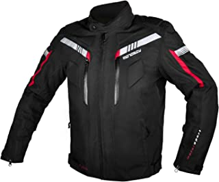 All Seasons Waterproof Motorcycle Riding Jacket,Removable CE Armored Hi-Vis Reflective Thermal Motorbike Jacket for Men (XL, Black)