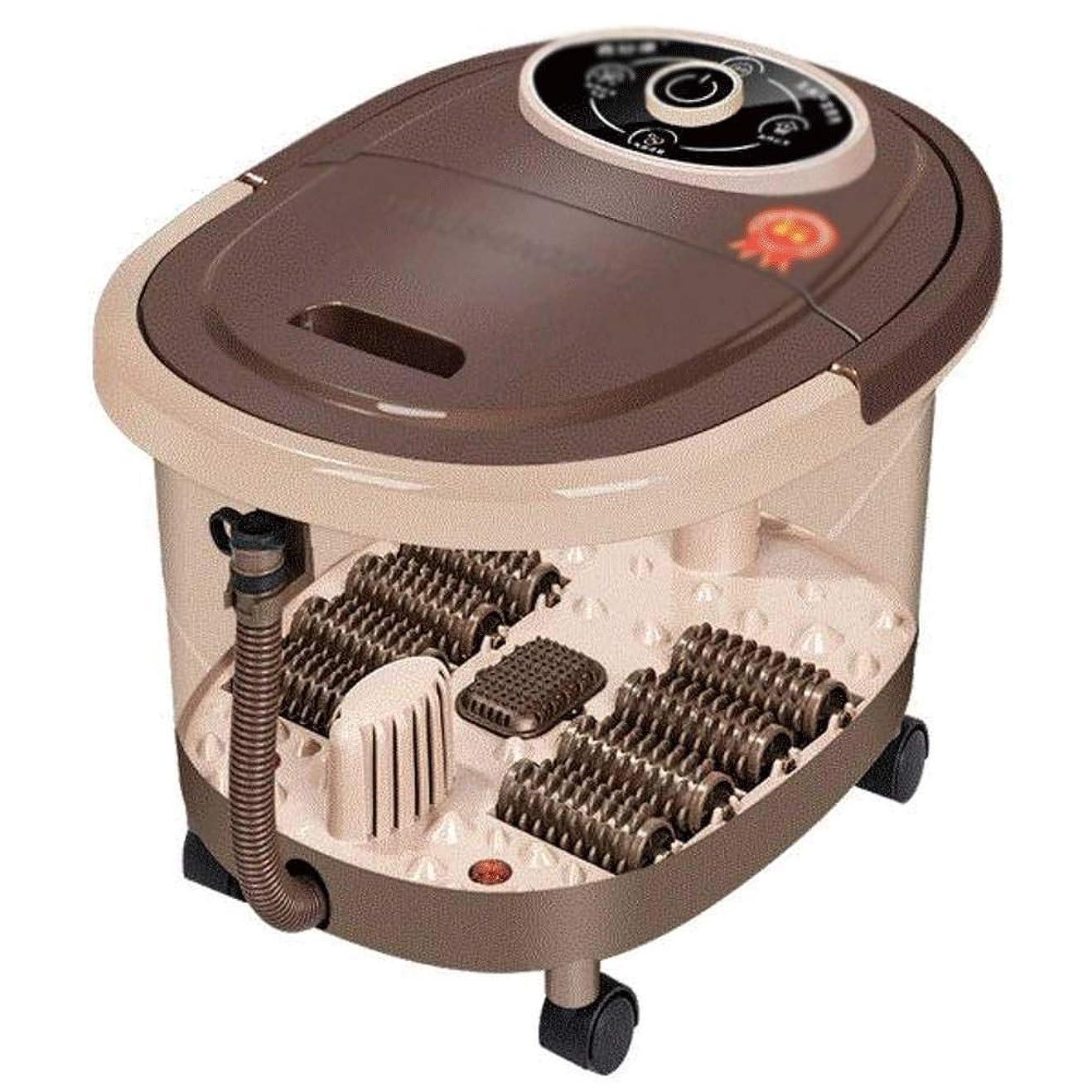 ドアミラー権利を与える焦がすLEIGE フットスパバスマッサージ(熱やマッサージ付き)、バブルジェット、電動指圧マッサージボール+電動メイズローラー+回転可能なペディキュアストーン、レッドライト、調節可能な時間と温度