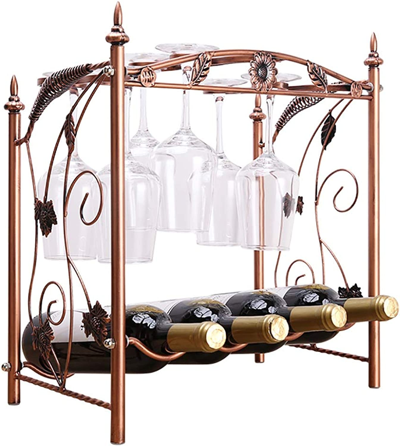 BTPDIAN Double Wine Rack Wine Glass Rack Removable and Versatile 2 Word