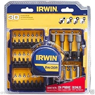 Irwin 30-Piece Screwdriver Set With Bonus Tape Measure 042526933257