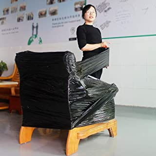 """Stretch warp Industrial Strength 9"""" x 1000 ft 80 Gauge Extra Thick,Mini Black Stretch Wrap Film with Handle for Pallet Wrap,Adhering Packing Heavy Duty Shrink Film(1Roll)"""