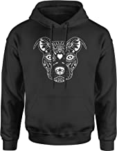 Motivated Culture Pitbull Sugar Skull Day of The Dead Adult Unisex Hoodie