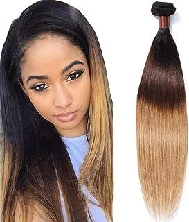 Cranberry Hair Ombre Brazilian Virgin Hair Straight Hair Weave 20 inch Bundle Three Tone Color Human Hair Weaving Blonde Hair T1B/4/27