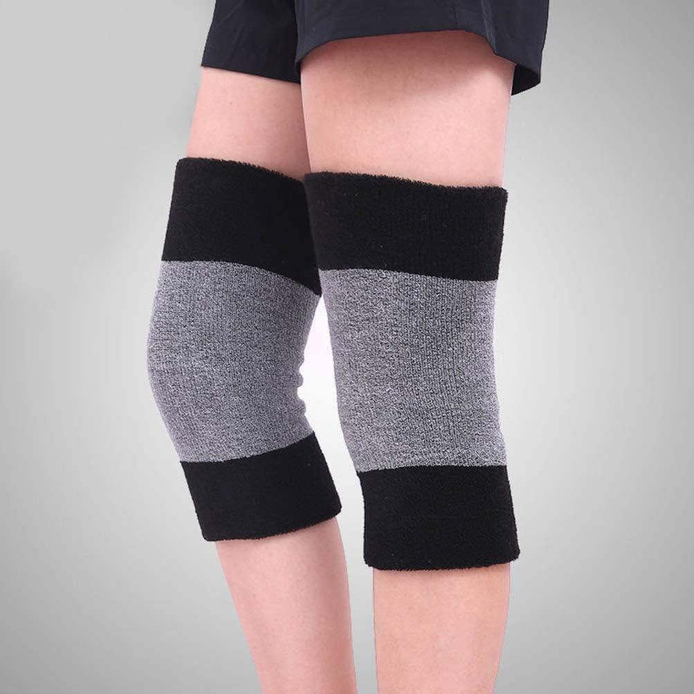 EXCEART Knee Warmers Elastic Cotton Knee Sleeves Braces Leg Warmers Winter Warm Thermal Sleeves for Men Women