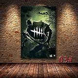 3D Survival Horror Game Dead Day-Light Character Wraith Killer Lienzo Pintura Arte de la Pared Poster HD Prints Picture Sala de Juegos Dormitorio Sala de Estar Decoración del hogar