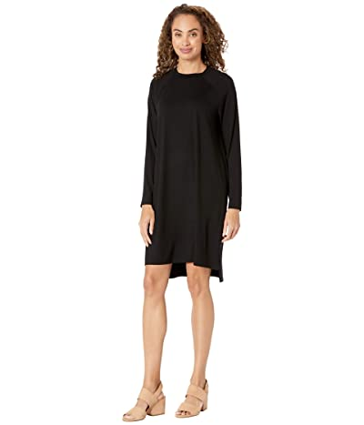 Eileen Fisher Crew Neck Dress (Black) Women