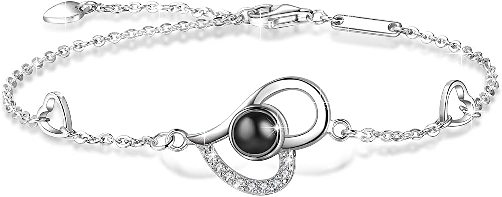 E.infinity bracciale memorie d`amore in argento sterling 925 per donna Jewelry-SET-001