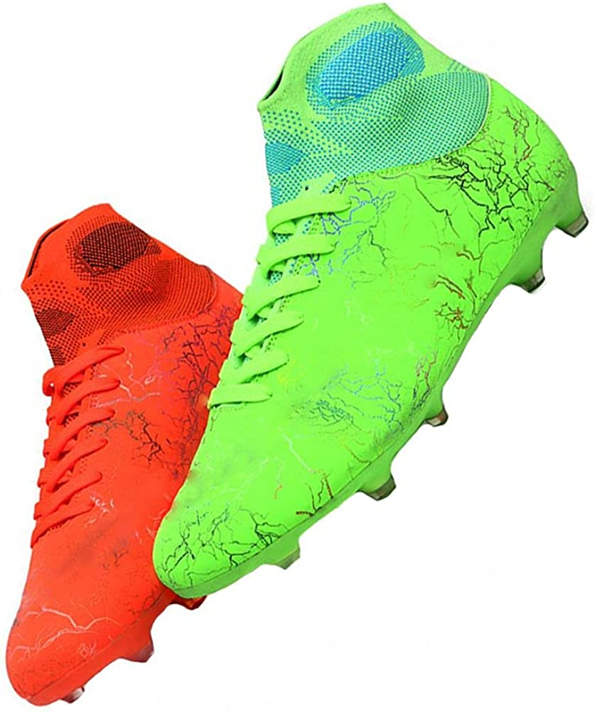 MALAXD Unisex's AG Cleats Ranking TOP8 Training Long High-Top Department store Football Studs