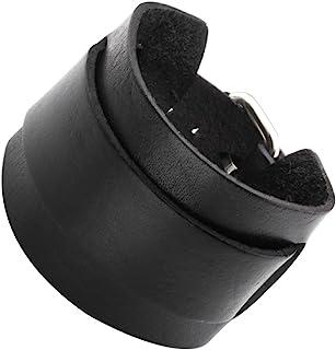 Sponsored Ad - Jovivi Cutom Leather Bracelet - Personalized Punk Men Women Black Brown Wide Genuine Leather Wrap Cuff Bang...