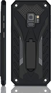 Samsung Galaxy S9 Case   Military Grade   12ft. Drop Tested Protective Case   Kickstand   Wireless Charging   Compatible with Galaxy S9 - Black