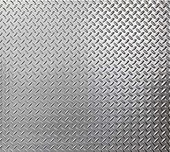 Brushed Aluminum Diamond Plate Thermoplastic Sheet 24