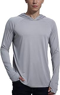 Sponsored Ad - Men's UPF 50+ Sun Protection Fishing Hoodie Shirt Long Sleeve SPF Outdoor UV Shirt Hiking Lightweight