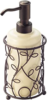 iDesign Twigz Ceramic and Metal Liquid Soap Pump and Lotion Dispenser for Kitchen, Bathroom, Sink, Vanity, 4.5
