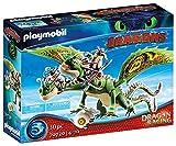 PLAYMOBIL DreamWorks Dragons 70730 Dragon Racing: Dragón 2 Cabezas con Chusco y Brusca, A partir de 4 años