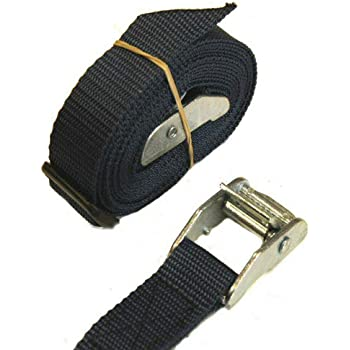 Cam Buckles Tie Down Straps 2 x 25mm 1.5 Metre Light BLUE Car Luggage straps