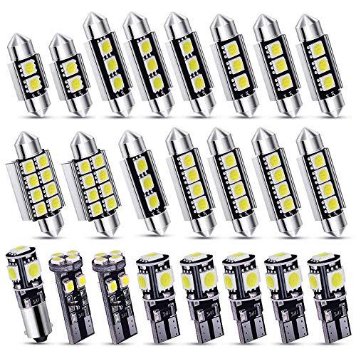Kinstecks Kit de bombillas LED SMD sin errores Can-Bus de 23 piezas, bombilla LED para interior de coche, festón BA9S, Canbus T10 C5W, xenón