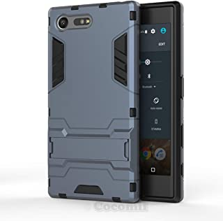 Cocomii Iron Man Armor Sony Xperia X Compact Case New [Heavy Duty] Premium Tactical Grip Kickstand Shockproof Bumper [Military Defender] Full Body Rugged Cover for Sony Xperia X Compact (I.Black)