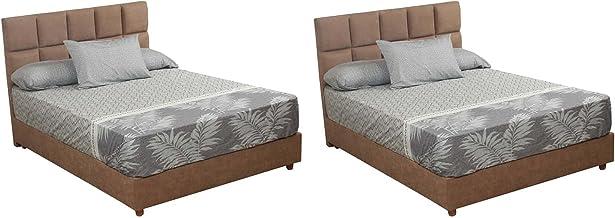 Al Maamoun Multi Patterned Bed Sheet Set, 180x240 cm - 6 Pieces