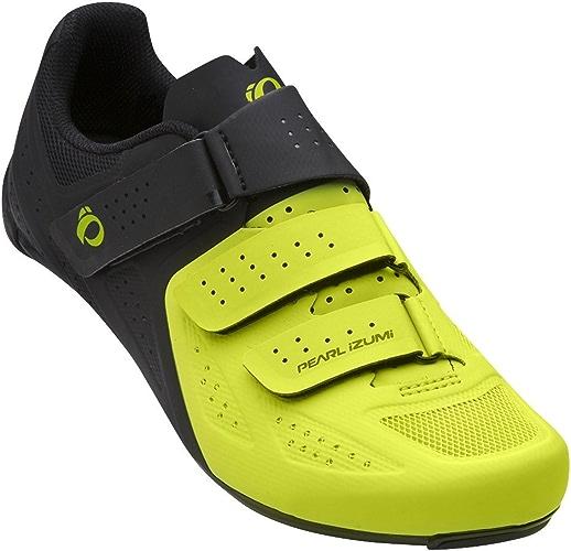 PEARL IZUMI Select Road V5Chaussures Cyclisme, Homme, Noir Citron Vert, 47