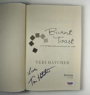 Teri Hatcher Burnt Toast Book Signed Autographed PSA/DNA Certified Authentic COA