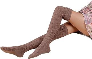 CUHAWUDBA 女性の最愛:レッグウォーマー ソフトニットかぎ針編みレギンスソックス(カーキ色)
