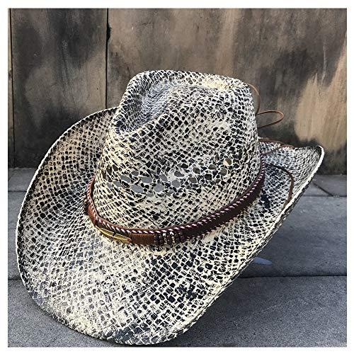 No-branded HOUJHUS Sombrero de Vaquero de Paja for Mujeres Hombres Sombreros de Vaquero for Lady Tassel Summer Western Sombrero Hombre Salvavidas (Color : 3, Size : 56-58cm)