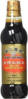 Pearl River Bridge Golden Label Superior Light Soy Sauce, Plastic Bottles, 16.9 oz (2)