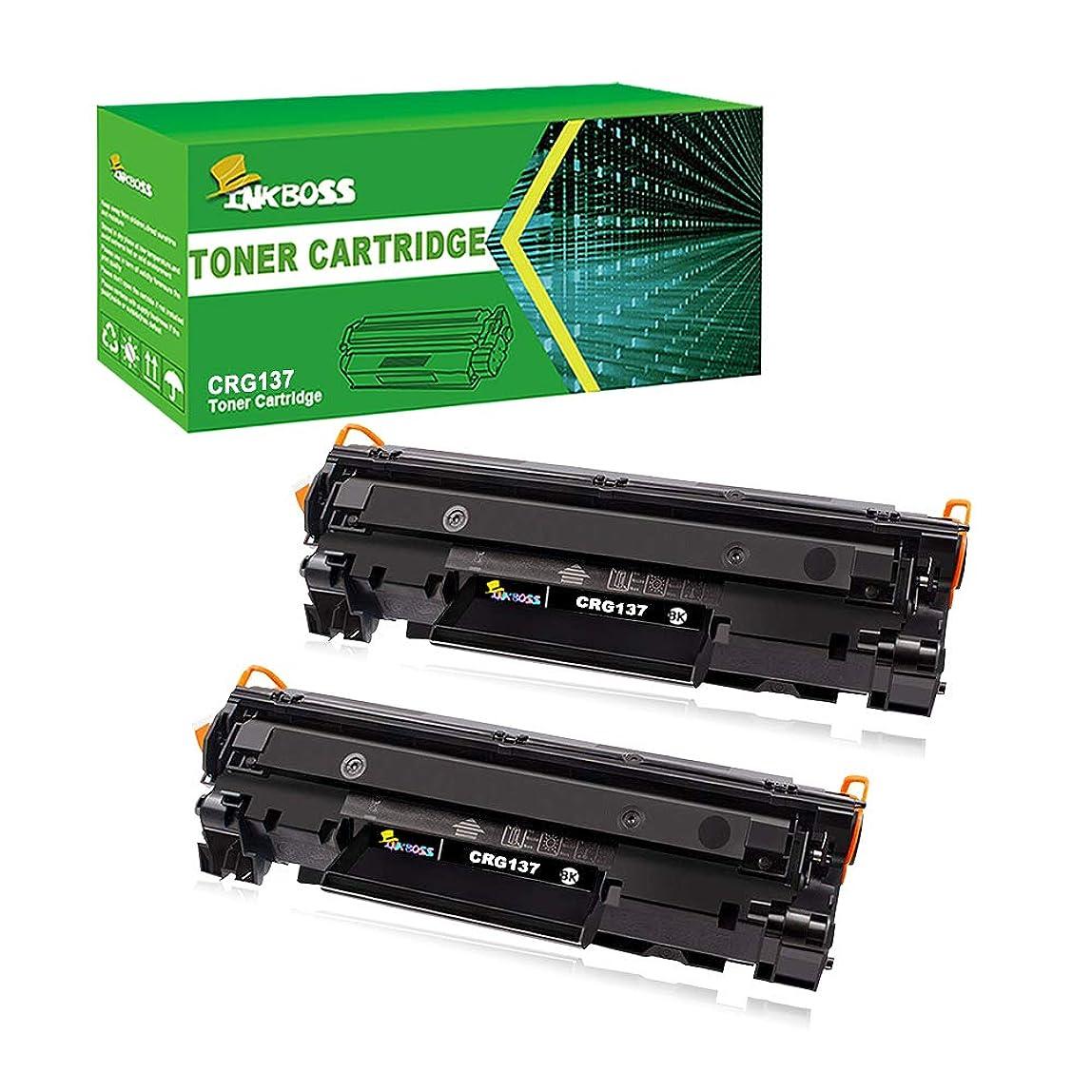 INKBOSS 2 Packs Compatible Toner Cartridge Replacement for Canon Cartridge 137 Starter Toner Cartridge,High Yield 1,500 pagers (Black) kmkgjom959543