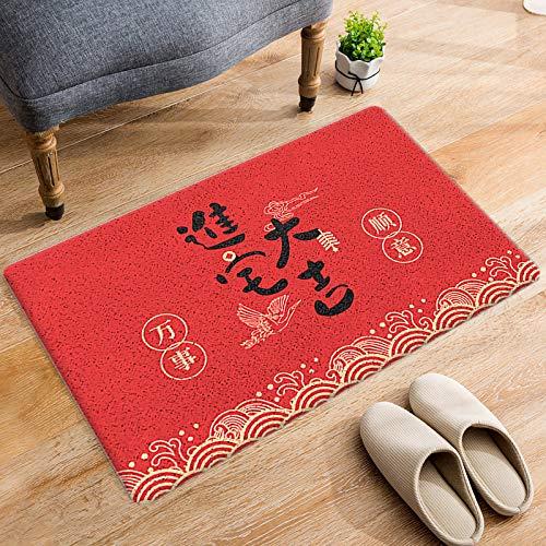 DRTWE Alfombra de terciopelo suave con letras chinas impresas negras para sala de estar, dormitorio, antideslizante, cálida, para yoga, meditación, para niños, 120 x 160 cm