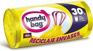comprar comparacion Handy Bag 30 litros Basura 30L, Reciclaje Envases, Extra Resistentes, 15 Bolsas, Amarillo
