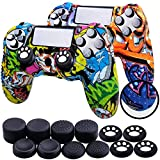Th-some Fundas para Mando Sony PS4/ PS4 Pro/ PS4 Slim Dualshock 4, Silicona Camuflaje Carcasa Protectora Antideslizante para Play 4/ Playstation 4 (MulticolorC 2 Pcs)