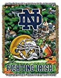 The Northwest Company Notre Dame Fighting Irish 'Home Field Advantage' Woven Tapestry Throw Blanket, 48' x 60' , Blue