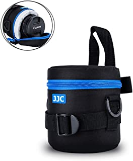 """Camera Lens Pouch JJC DSLR Camera Lens Case for Canon 50mm 28mm 60mm 11-22mm 18-55mm 35-80mm 28-80mm Nikon 50mm 18-55mm Olympus 14-42mm 40-150mm Sony 18-70mm any Lens with Size 3.07x4.53"""""""