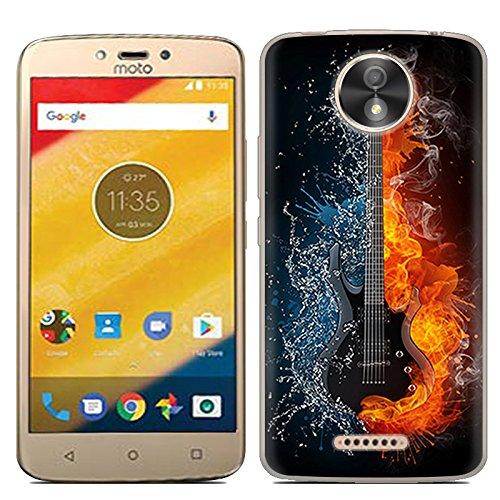Easbuy Handy Hülle Soft Silikon Hülle Etui Tasche für Lenovo Motorola Moto C Plus Smartphone Cover Handytasche Handyhülle Schutzhülle