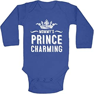 Awkwardstyles Mammy`s Prince Charming Cute Long Sleeve One Piece Baby Bodysuit