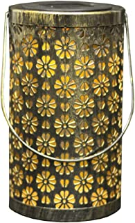 FRCOLOR Outdoor Hanging Solar Lanterns Iron Hollow Out Vintage LED Solar Lights Decorative Patio Table Lamp Garden Decor f...