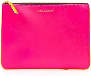 Luxury Fashion | Comme Des Garçons Womens SA5100SFPINKYELLOW Pink Clutch | Season Permanent