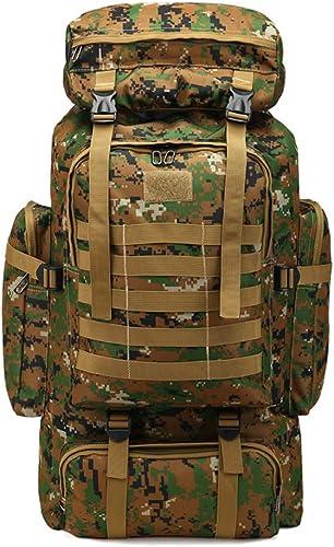 JKLSNMA Chaussures de randonnée 80L Waterproof Climbing Bag Military Tactical Backpack Hiking Camping Bag Mountaineering Backpack Outdoor Sport 3P Bag