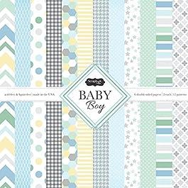 Scrapbook Customs 37474 Themed Paper Scrapbook Kit, Baby Boy
