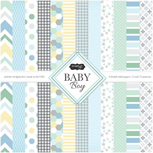 Scrapbook Customs 37474 Themed Paper Scrapbook Kit, Baby Boy |