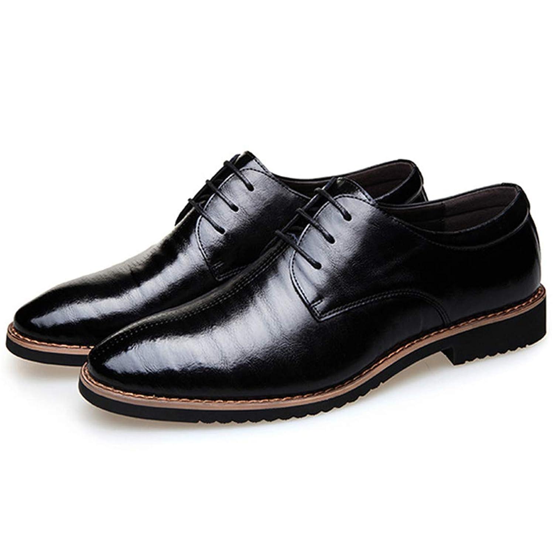 [ONE MAX] メンズ ビジネスシューズ 本革 ドレスシューズ スーツ用 レースアップ 外羽根 革靴 フォーマル スタイリッシュ 幅広 通気 防滑