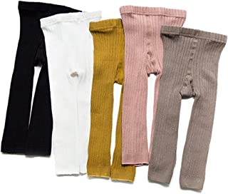 3 Pack Cable Knit Tights Cotton Leggings Stocking Pants for Baby Toddler Kids Girls