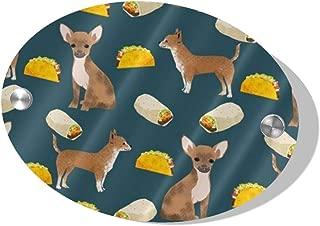 POBUYGBD Chihuahua Tacos Food Dog Door Decoration Card MDF 5.5