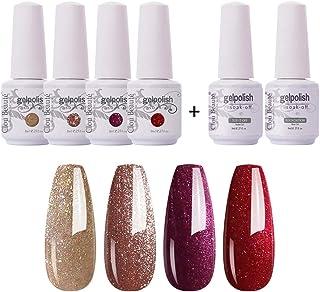 Sponsored Ad - Clou Beaute Soak Off UV Led Nail Gel Polish Kit Varnish Nail Art Manicure Salon Collection Set of 4 Colors ...