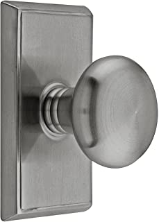 Providence Door Set with Round Brass Knobs Passage in Antique Pewter. Doorsets.