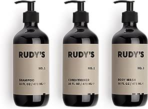 Rudy's Shower Essentials Bundle, Paraben Free, Made in the USA