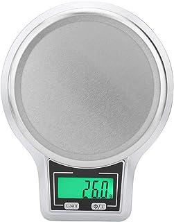 Básculas digitales LCD 1 kg 1 g Pantalla táctil digital electrónica botón balancear herramienta de medición de alimentos de cocina (Astilla)