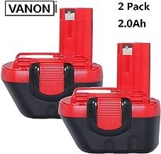 VANON BAT043 Replace for Bosch 12V Battery, BAT046 for Bosch 2.0Ah Battery BAT045 BAT049 BAT120 BAT139 Cordless Power Tools(Ni-CD)